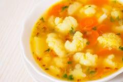 Fresh vegetable cauliflower soup Royalty Free Stock Photo