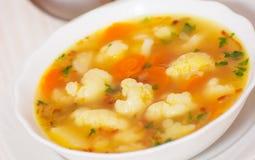 Fresh vegetable cauliflower soup Royalty Free Stock Photos