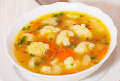 Fresh vegetable cauliflower soup Royalty Free Stock Image