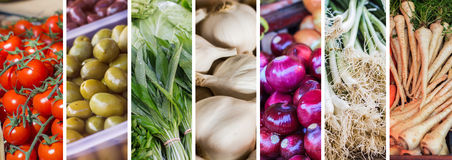 Fresh Vegetable Collage Royalty Free Stock Image