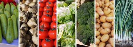 Fresh Vegetable Collage Royalty Free Stock Photo