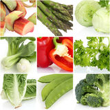 Fresh vegetable collage Royalty Free Stock Photography