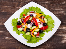 Fresh vegetable colorful greek salad Royalty Free Stock Photo