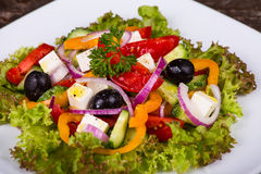 Fresh vegetable colorful greek salad Royalty Free Stock Image
