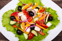Fresh vegetable colorful greek salad Royalty Free Stock Photography