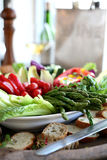 Fresh vegetable crudite platter Royalty Free Stock Image