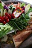 Fresh vegetable crudite platter stock photography