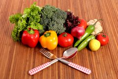 Fresh vegetable diet Stock Photo