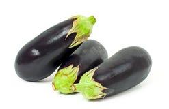 Fresh vegetable. Eggplants on white background. Fresh vegetable. Eggplants isolated on white background stock images