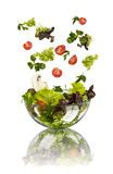 Fresh vegetable falling Stock Images