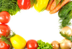 Fresh Vegetable Frame Stock Photography