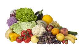 Fresh vegetable and fruit Royalty Free Stock Images