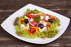 Fresh vegetable greek salad Stock Image