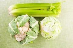 Fresh vegetable on green background. Stock Image