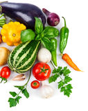 Fresh vegetable with green leaves Stock Image