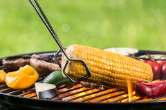 Fresh vegetable on grill Royalty Free Stock Photography