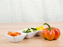 Fresh vegetable - healthy snack Stock Images