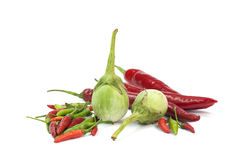 Fresh Vegetable. Hot chilli on White background Stock Images