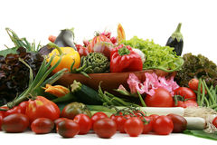 Fresh vegetable isolated Stock Photography