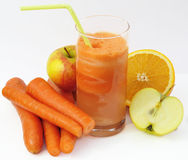 Fresh vegetable juice Royalty Free Stock Photos