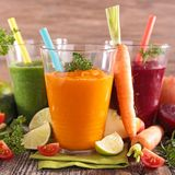 Fresh vegetable juice. Glass of fresh vegetable juice Stock Photos