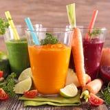 Fresh vegetable juice Stock Photos