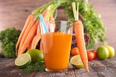 Fresh vegetable juice Royalty Free Stock Images