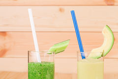 Fresh vegetable juices Stock Images