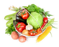 Fresh vegetable with leaves Royalty Free Stock Photo