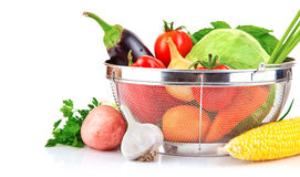 Fresh vegetable with leaves Royalty Free Stock Images