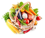 Fresh vegetable with leaves Stock Image