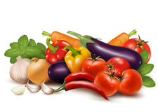Fresh vegetable with leaves  Healthy Eating Stock Photo
