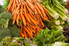 Fresh Vegetable Market Stock Photo