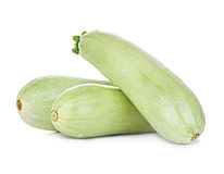Fresh vegetable marrow isolated on white Stock Photography