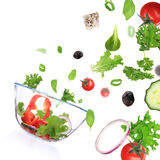 Fresh vegetable in motion Royalty Free Stock Photography