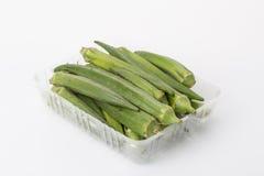 Fresh vegetable okra Stock Image