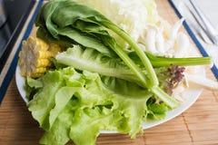 Fresh vegetable organic set food on the table Stock Photo