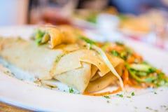 Fresh vegetable pancake Stock Images