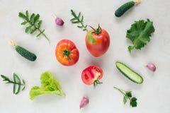 Fresh vegetable pattern Stock Image