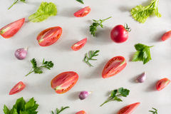 Fresh vegetable pattern Stock Images