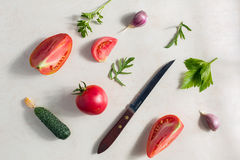 Fresh vegetable pattern Royalty Free Stock Photo