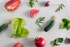 Fresh vegetable pattern Stock Photos