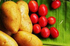 Fresh vegetable- Potato - Tomato Stock Image