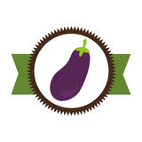 Fresh vegetable product seal Royalty Free Stock Images