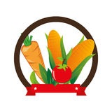 Fresh vegetable product seal Royalty Free Stock Photography