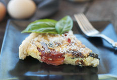 Fresh Vegetable Quiche Royalty Free Stock Image