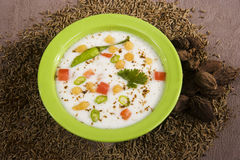 Fresh Vegetable Raita Stock Photos