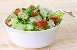 Fresh vegetable salad Stock Photo