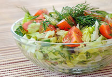 Fresh vegetable salad royalty free stock image