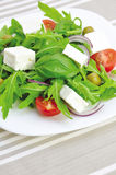 Fresh vegetable salad. Healthy vegetarian salad on a plate Stock Photo
